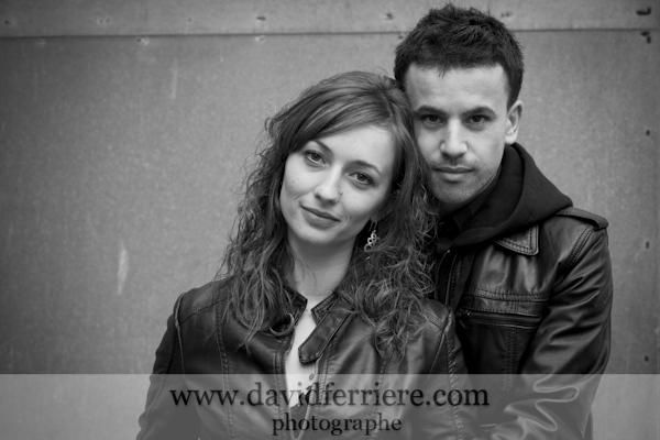 portrait couple noir et blanc