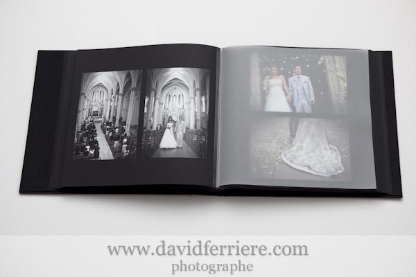 photographe rennes album de mariage photos noir et blanc reportage église