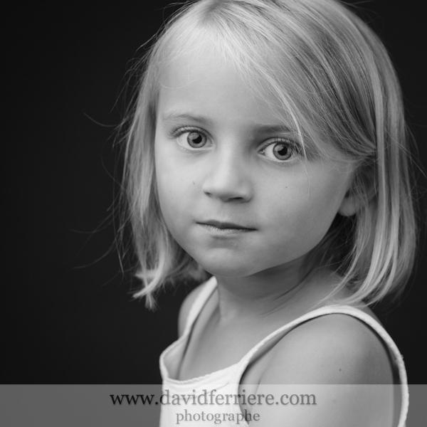 rennes photographe portrait enfant noir et blanc