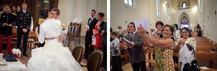 mariage église échange des alliances