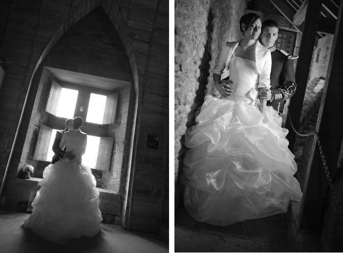 mariage bretagne photo couple noir et blanc