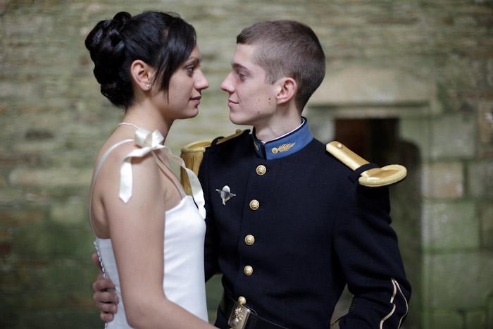 mariage bretagne photo couple en couleur mariage saint cyr