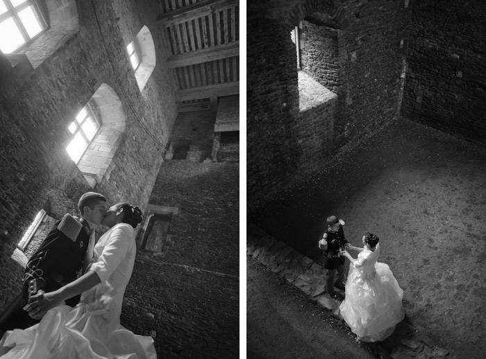 rennes vannes bretagne portrait de mariage en clair obscur chateau suscinio