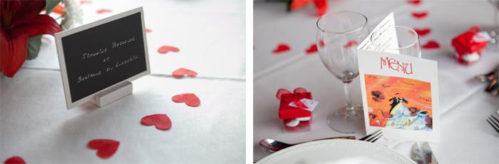 mariage rennes bretagne décoration table